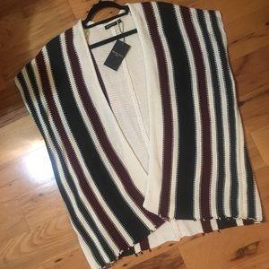 Brave Soul Stripe Cardigan Cape